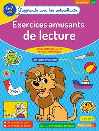 Exercices amusants de lecture (6-7 a.) - (j'apprends avec des autocollants)