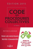 Code des procédures collectives - 2015