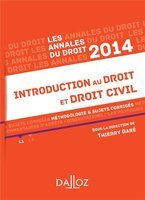 Introduction au droit et droit civil - 2014