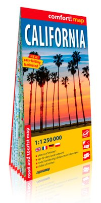 Californie (ang) 1/1m250 (carte grand format lamin