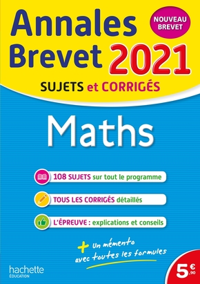 Annales brevet 2021 maths