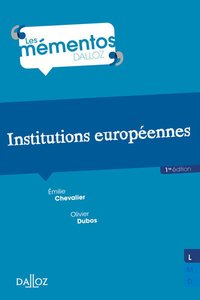 Institutions européennes - 1re ed.