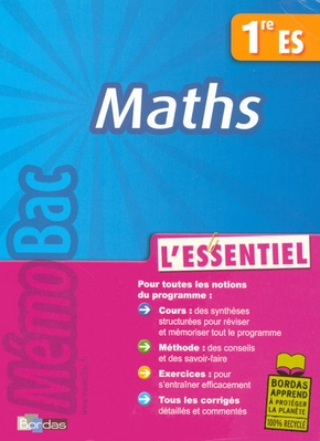 Memobac essentiel maths 1 es