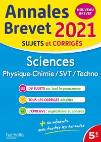 Annales brevet 2021 sciences