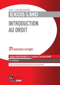 Exos lmd - introduction au droit - 4ème édition