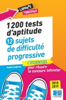1200 tests d'aptitude - 12 sujets de difficulté progressive