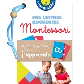 Les incollables - eventail montessori lettres rugueuses