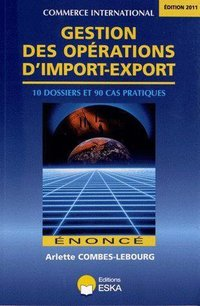 Gestion des operations d'import export editions 2011