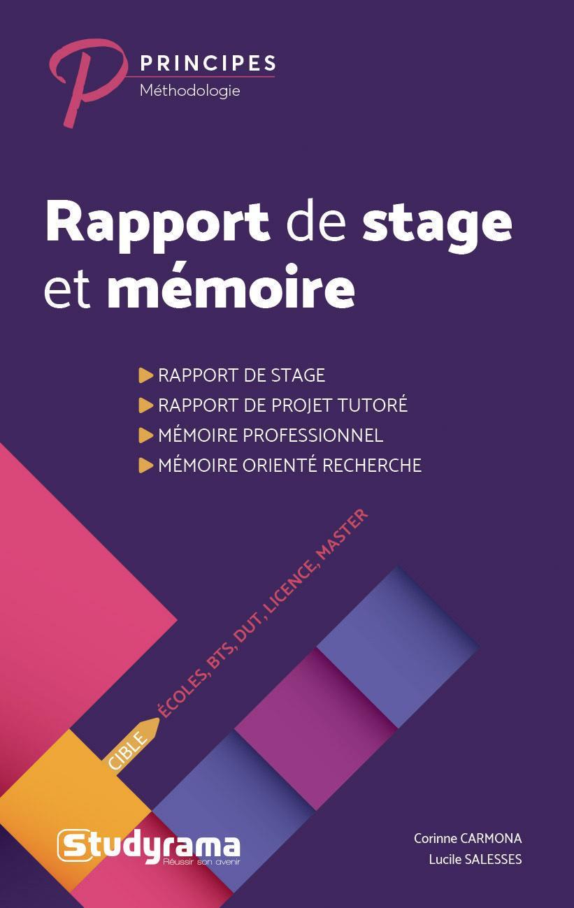 Rapport De Stage Et Memoire Librairie Eyrolles